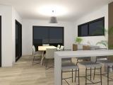 modelisation 3d séjour - maison ossature bois - sg plans - morbihan - grand champ