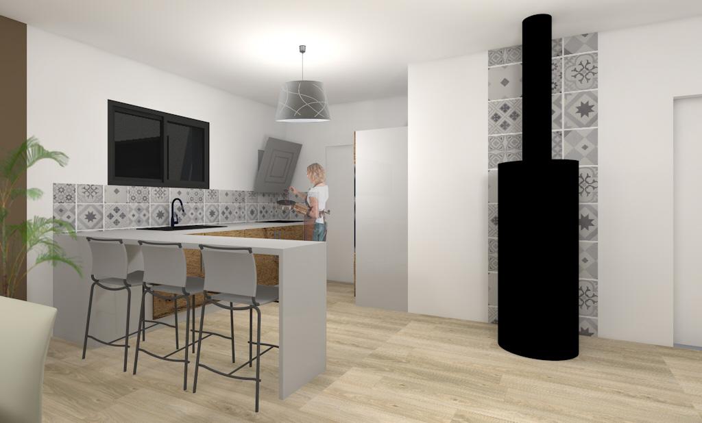 maison ossature bois plain pied grand champ sg plans. Black Bedroom Furniture Sets. Home Design Ideas