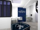projet renovation petite maison vannes vue 3d entrée et salon bis