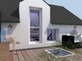 projet renovation petite maison vannes vue 3d terrasse
