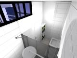 projet renovation petite maison vannes vue verriere SDB