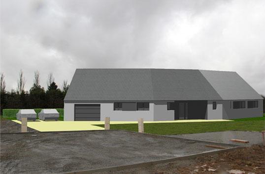 création d'une maison individuelle, SG plan