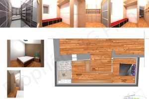 Esquisse extension, chambre, salle de bain, dressing, sg plans