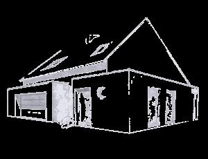 dessin numérisé croquis maison par sylvie Guillory SG plans, vannes, locminé, morbihan