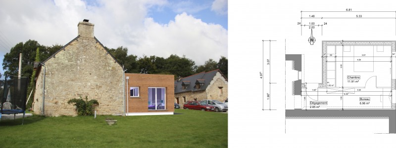 extension maison individuelle sg plans. Black Bedroom Furniture Sets. Home Design Ideas
