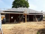 chantier en cours .- maison ossature bois - sg plans - morbihan - grand champ