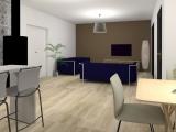 modelisation 3d cuisine - maison ossature bois - sg plans - morbihan - grand champ
