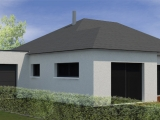 modelisation 3d esquisse - maison ossature bois - sg plans - morbihan - grand champ