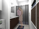 projet renovation petite maison vannes vue 3d SDE