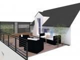 projet renovation petite maison vannes vue 3d terrasse bis