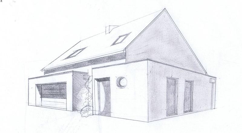 Croquis de maison avie home for Conception de croquis de plan de maison